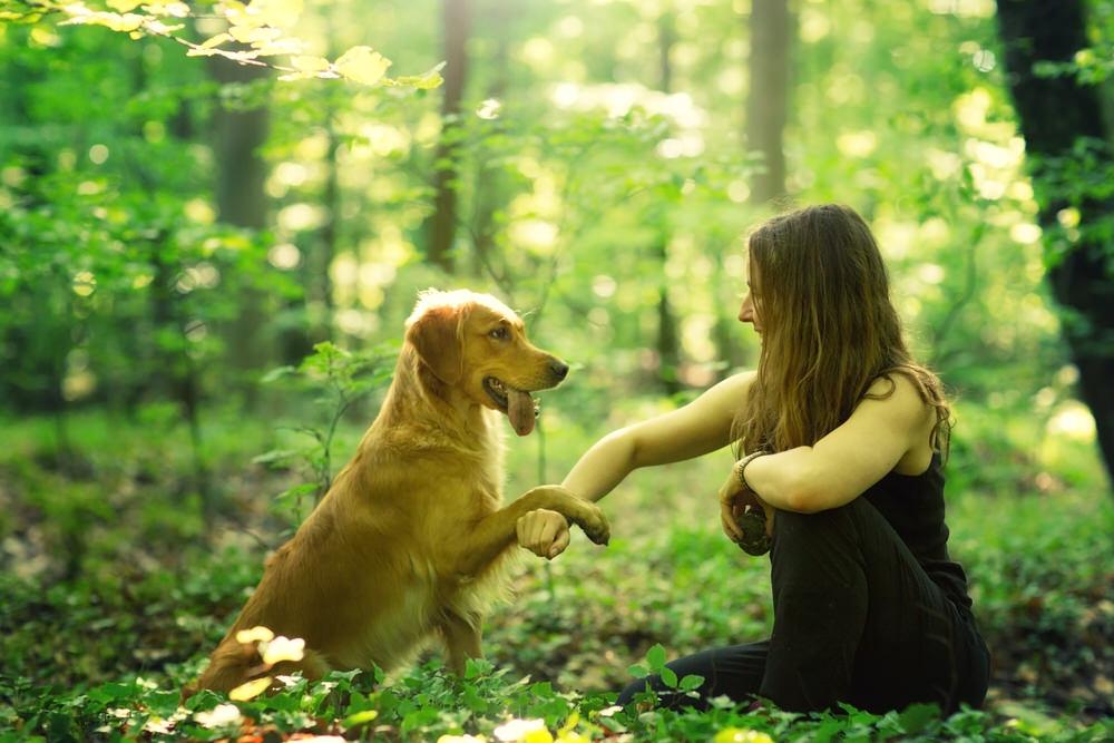 Céline - Photographe animalière avec son chien