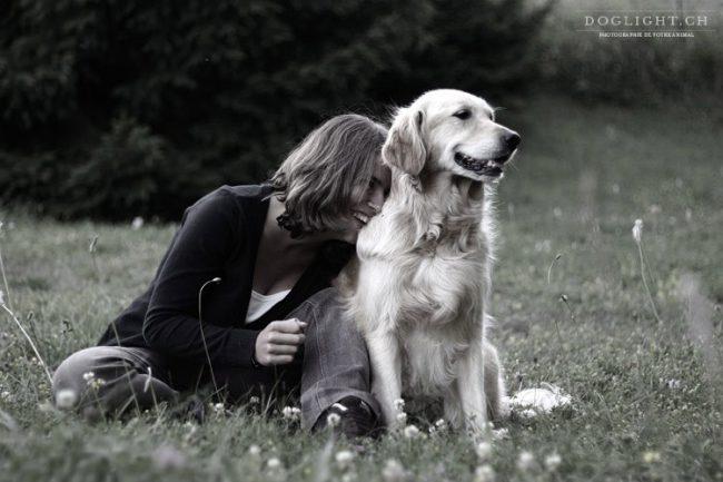 Amitié complicité chien maître