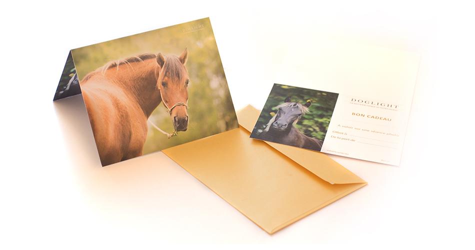 Carte cadeau - modèle cheval