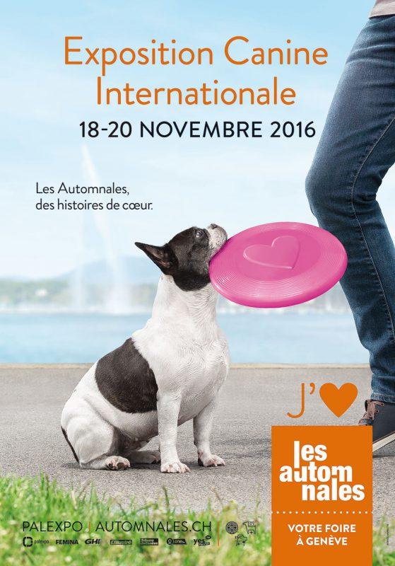 Affiche de l'exposition canine internationale de Genève Palexpo 2016