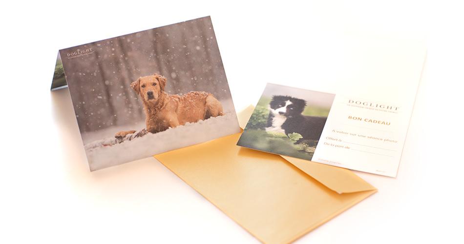 Carte cadeau - modèle chien