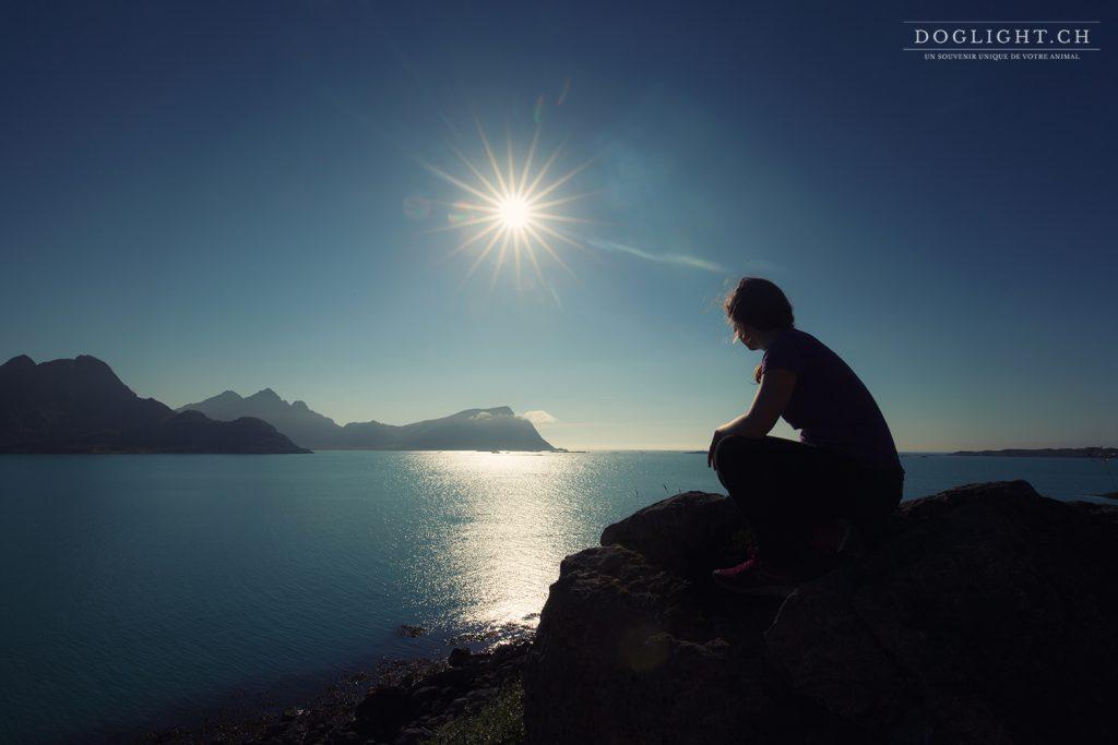 Vue des îles Vesteralen en Norvège