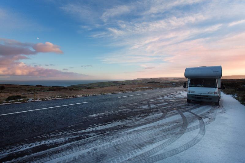 Camping-car en Irlande en hiver