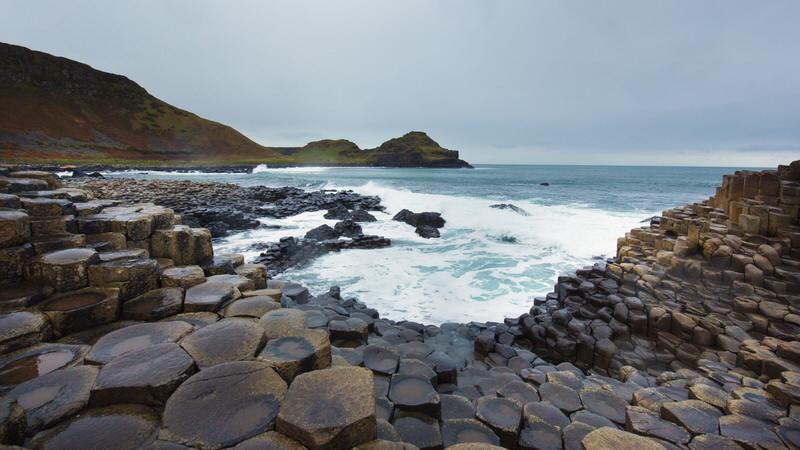 La Chaussée des Géants en Irlande en pleine hiver - Photographe Céline Mugnier