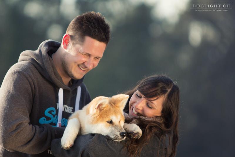 Photo de famille avec Akita Inu