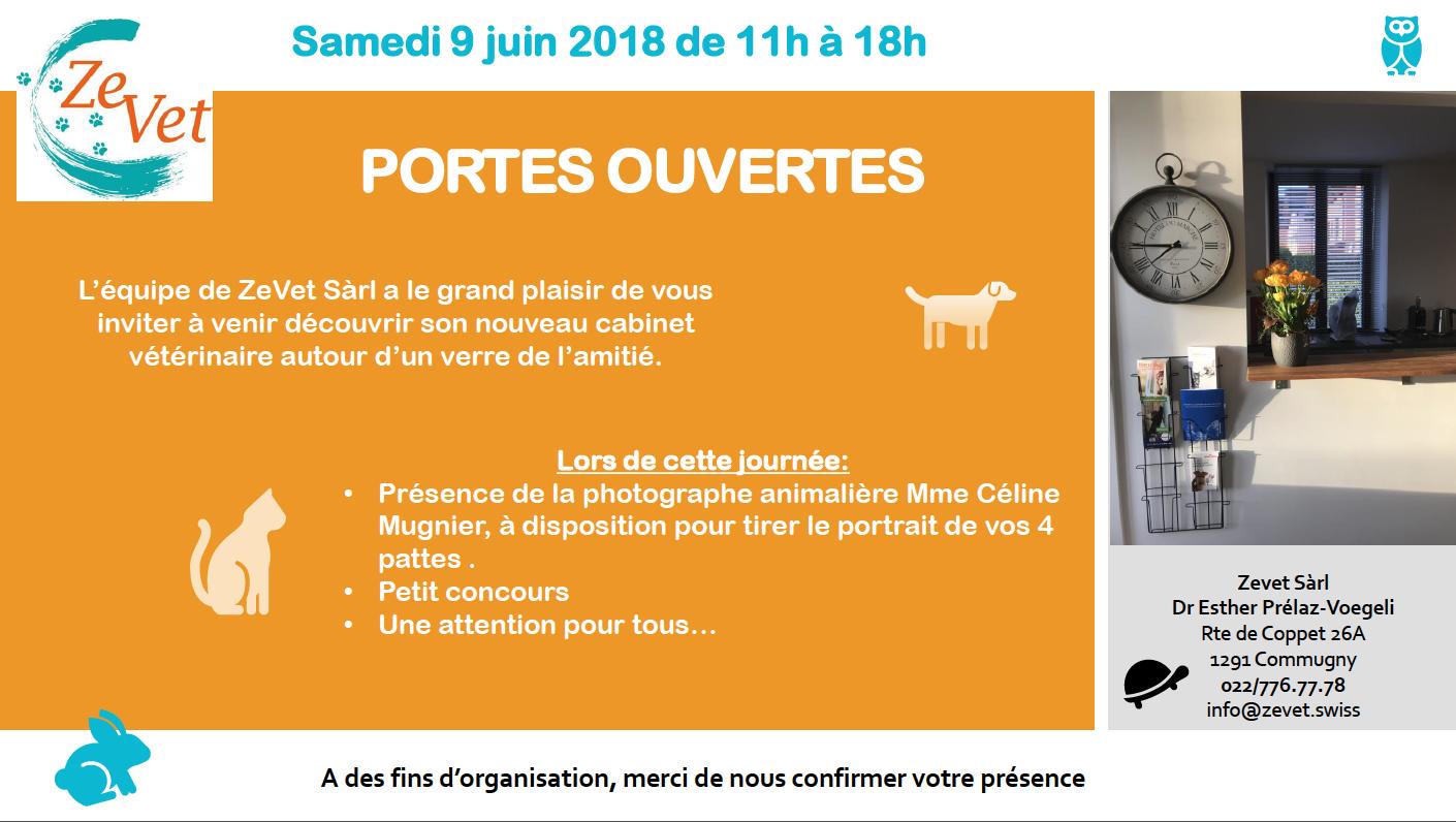 Portes ouvertes et photo au cabinet vétérinaire de Commugny