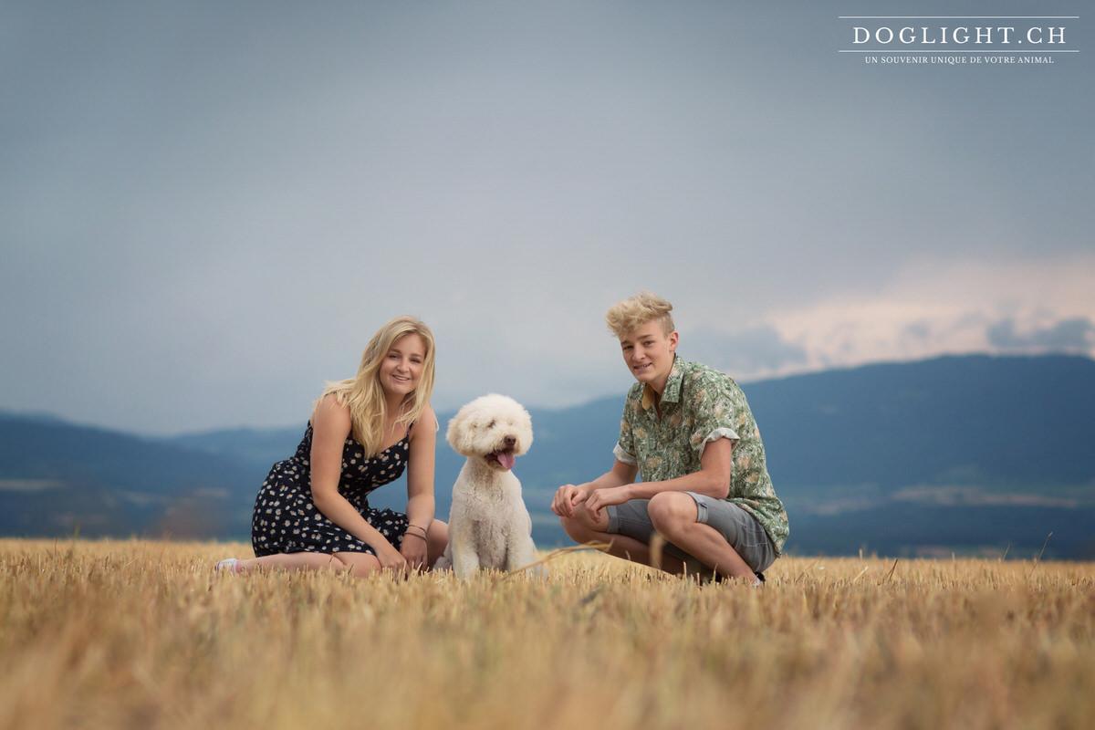 Shooting famille Labradoodle de Nyon Suisse
