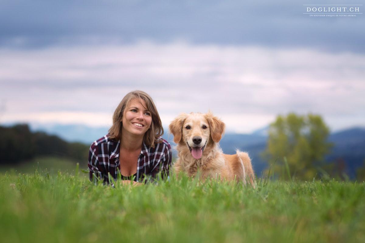 Portrait golden et sa maîtresse