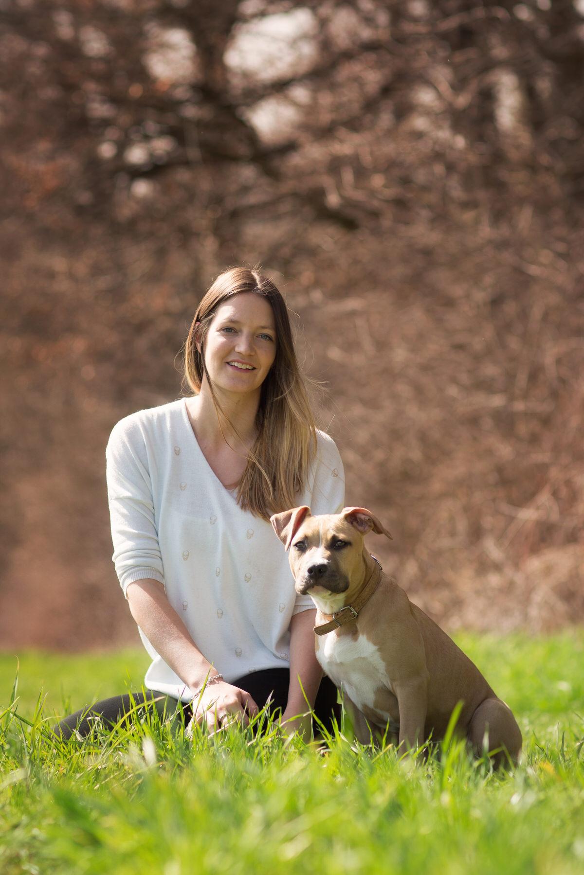 Portrait Clarisse et son chien - Horsegan