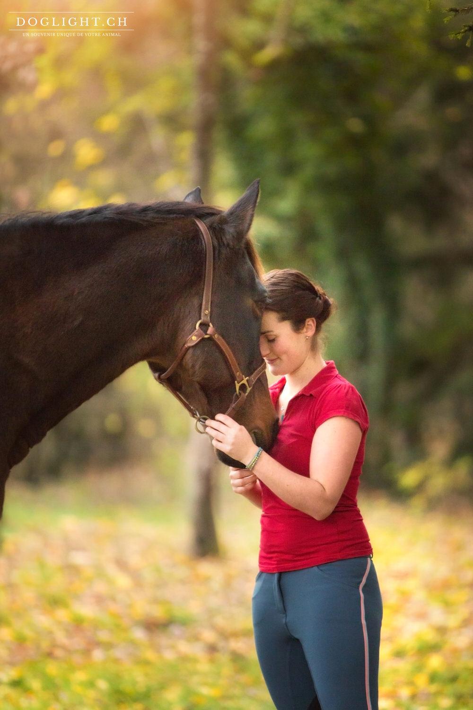 Photographe complicité cheval tête à tête
