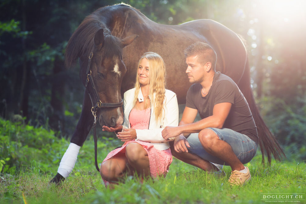 Photo couple avec un cheval Echallens